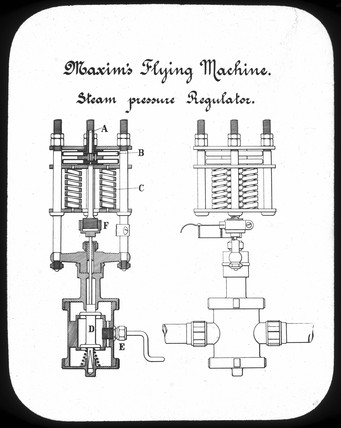 Steam pressure regulator from Maxim's flying machine, 1894.