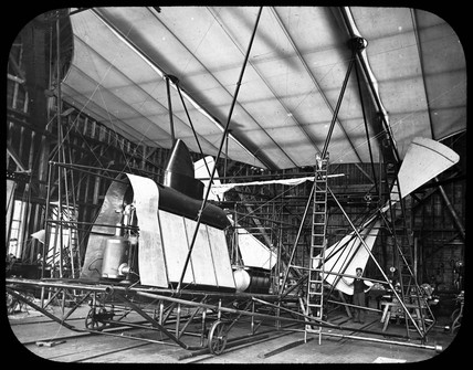 Maxim's flying machine under construction, 1894.