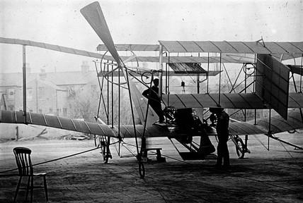 Maxim's 1910 aeroplane that never flew, 1910.