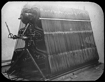 The steam boiler from Maxim's flying machine, 1894.