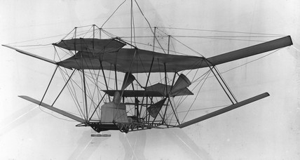 The Maxim flying machine, 1894.