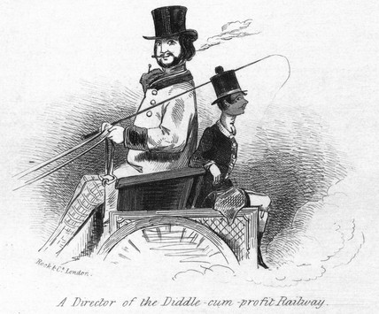'A Director of the Diddle-cum-profit Railway',  1845.