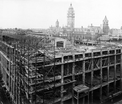 Construction of the East Block, Science Museum, London, 12 September 1917.