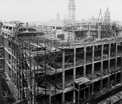 Construction of the East Block, Science Museum, London, 24 April 1918.