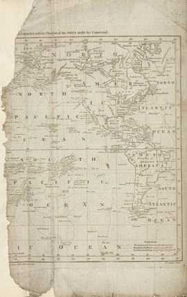 Map of Cook's voyages, c 1780.