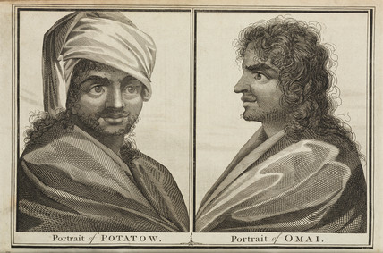 Portraits of Potatow and Omai, 1770s.