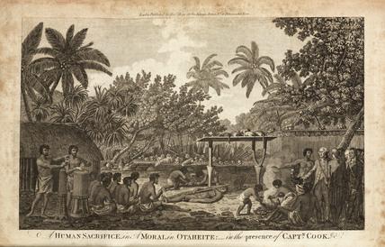 'A Human Sacrifice in A Morai, in Otaheite...', c 1773.