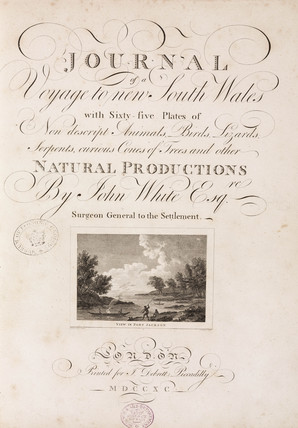 Title page to 'Journal of a voyage to New South Wales', 1789.
