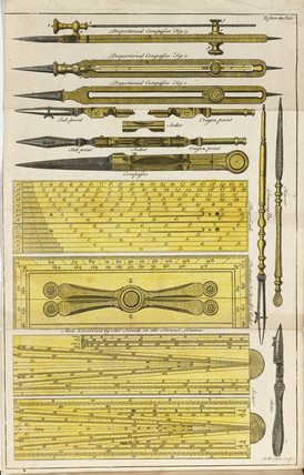 Mathematical instruments, 1747.