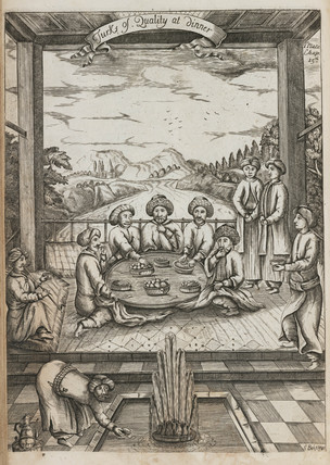 'Turks of Quality at dinner', 1740.