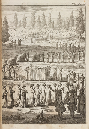 A Turkish funeral, 1740.