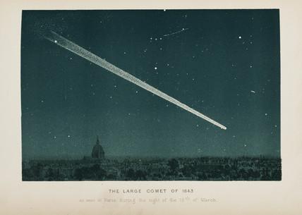 Comet over Paris, 19 March 1843.