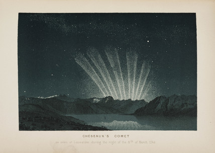 Cheseaux's comet, Lausanne, Switzerland, 8 March 1744.