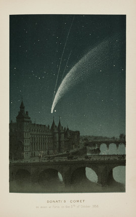 'Donati's Comet, as seen at Paris on the 5th of October 1858.'