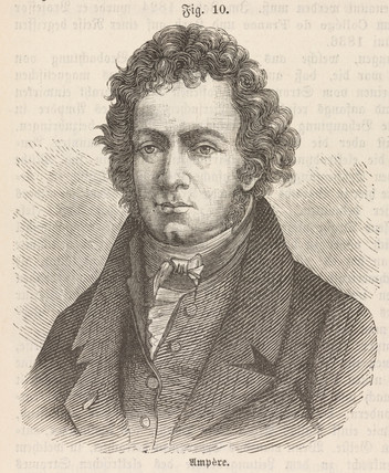 Andre-Marie Ampere, French physicist and mathematician, early 19th century.