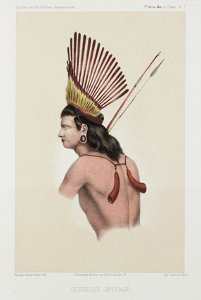 Apinage warrior, Brazil, c 1843-1847.