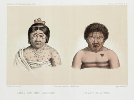 Two Guaycuru women, South America, c 1843-1847.