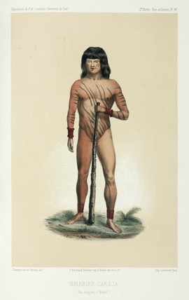 Caraja warrior, Brazil, 1843-1847.