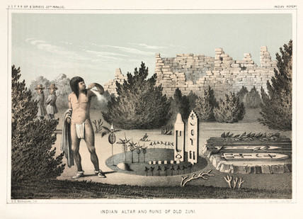 'Indian Altar and Ruins of Old Zuni', 1853-1855.