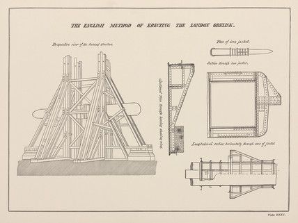 'The English Method of Erecting the London Obelisk', 19th century.