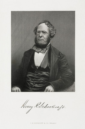 Henry Rowe Schoolcraft, American ethnographer and geologist, 1857.