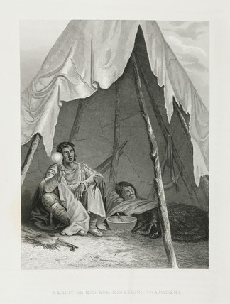 'A Medicine Man Administering to a Patient', North America, 1857.