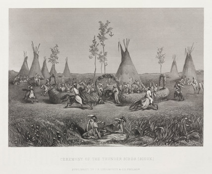 'Ceremony of the Thunderbirds, (Sioux)', North America, 1857.