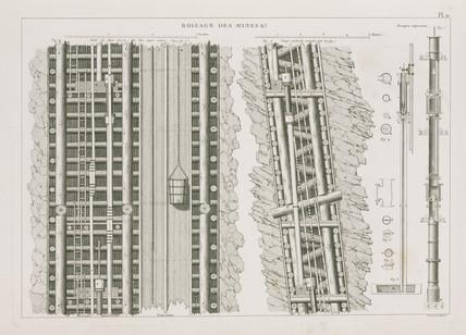Mine shaft construction, 1819.