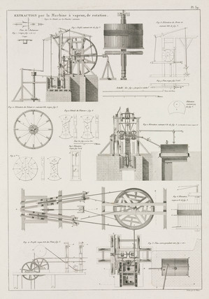 Steam engine, 1819.
