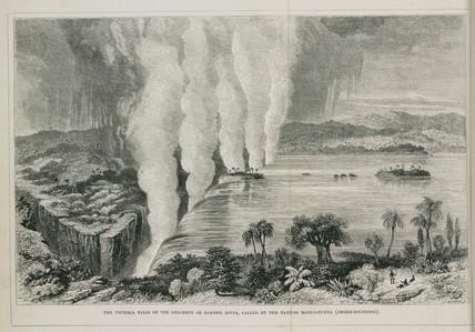 Victoria Falls, Africa, 1855.