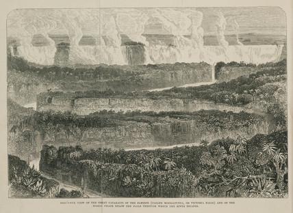 Victoria Falls, Africa, c 1855.