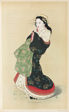 Courtesan, Japan, 1867.