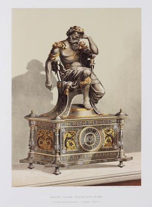 Mantel clock, Spanish, 1876.