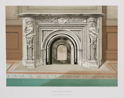 Marble mantelpiece, Canadian, 1876.