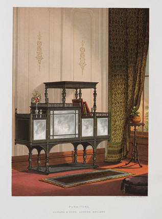 Glas-fronted cabinet, 1876.