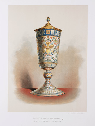 Enamel and silver goblet, Russian, 1876.