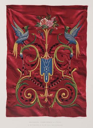 Mechanical embroidery, Swis, 1876.