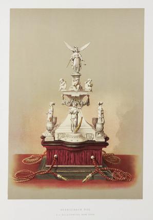 Meerschaum pipe, USA, 1876.
