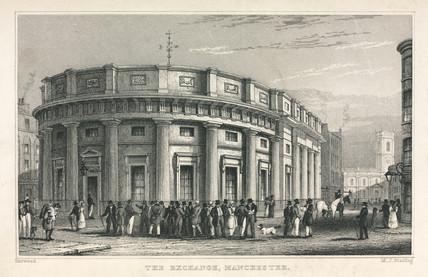 Manchester Cotton Exchange, Lancashire, 1835.
