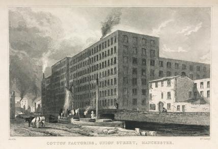 'Cotton Factories, Union Street, Manchester', 1835.