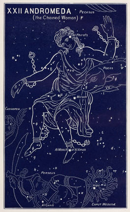 The constellation of Andromeda (the Chained Woman), 1895.