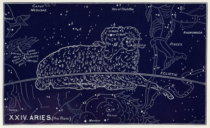 The constellation of Aries, 1895.