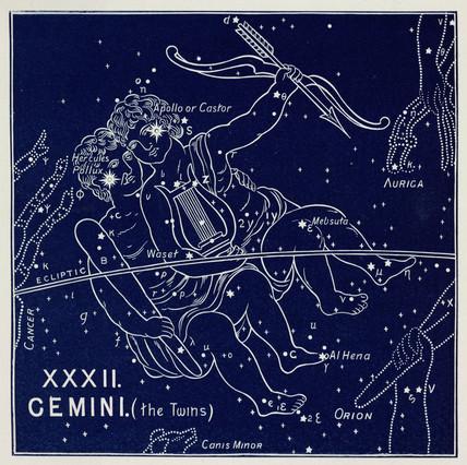 The constellation of Gemini, 1895.