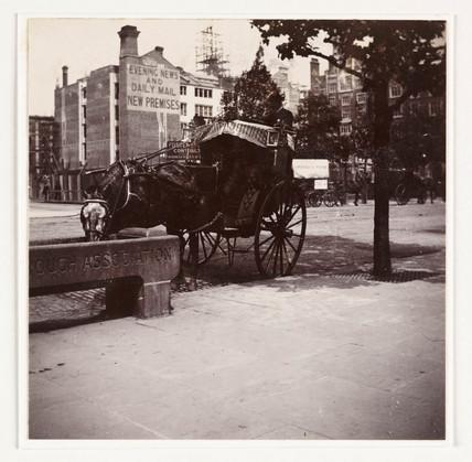 Hansom cab, c 1900.