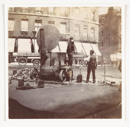 Road repair, c 1900.