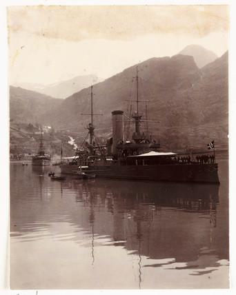 Norwegian warship, c 1905.