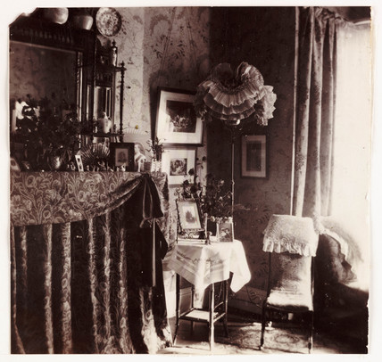 Victorian parlour, c 1905.