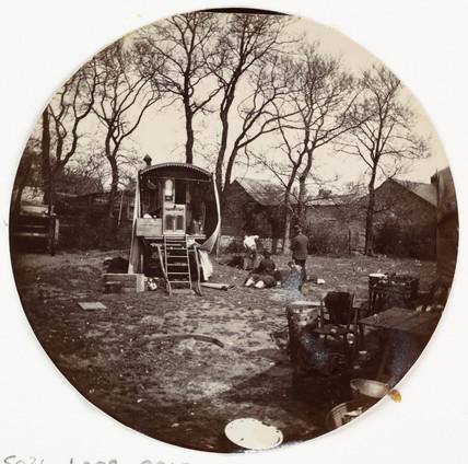 Gypsy camp, c 1890.