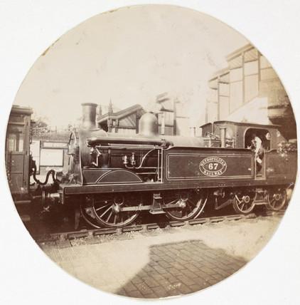 Metropolitan railway steam locomotive, c 1890.