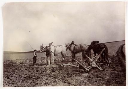 Mending a plough, c 1890.